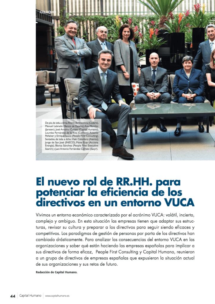 El nuevo rol de Recursos Humanos para potenciar la eficiencia de los directivos en un entorno VUCA